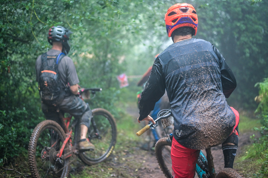The Southern Enduro crew had the two metre social distancing well organised at the start of each stage