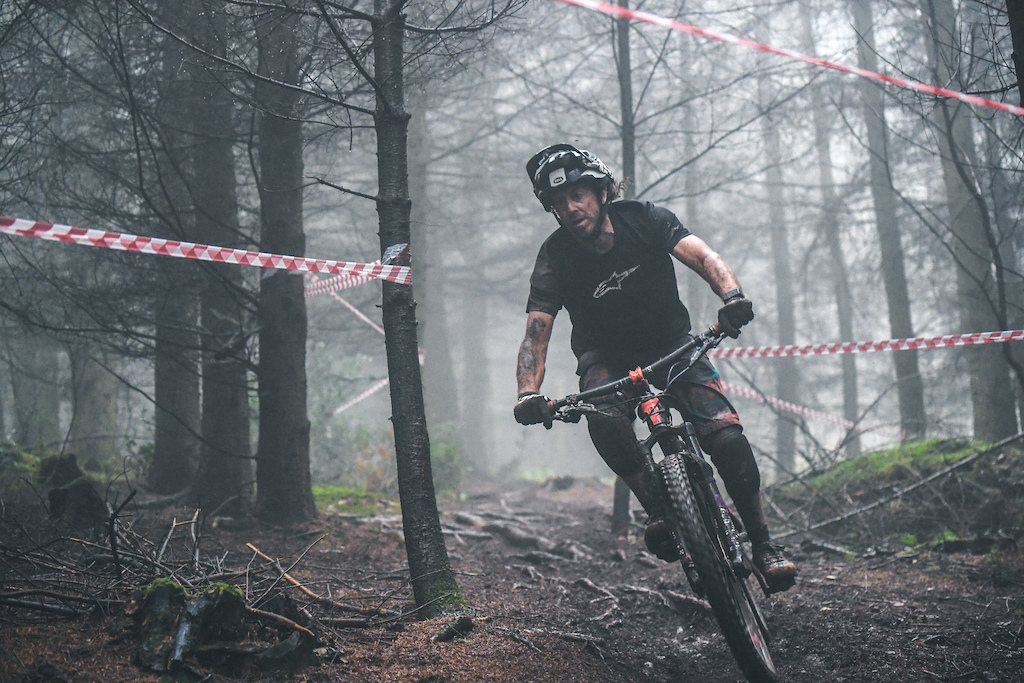 Mist dark woods and sniper roots made the technical sections of the stages even harder