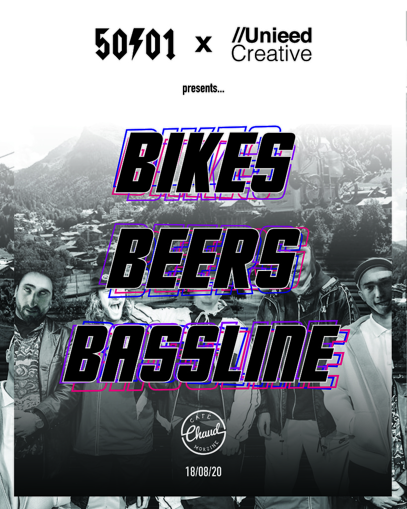 5 0to01 x Unieed Creative Presents... Bikes Beers and Bassline at Cafe Chaud. 18 08 2020