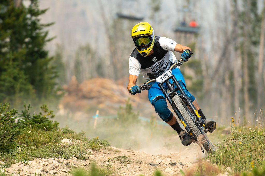 Chris Canfield came back from DH retirement to suffer through nearly 5000 feet of climbing and clinch the Master s 40 win.