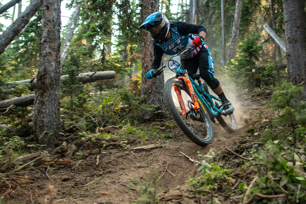 Shawn Neer on stage 5 s new fresh cut section.