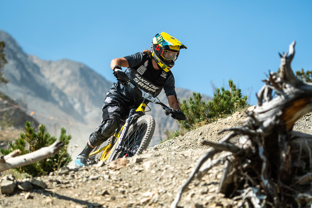 Hard times getting good photos of Mitch Ropelato this weekend because we could never hear him coming. His Megatower was dialed and quiet as could be for that extra speed to be smooth and fast on some steep rowdy stages that suited his riding style.