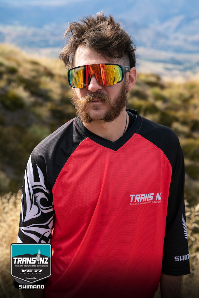 We love supporting events. This happy and very cool dude is sporting our Kazoom custom MTB jersey at the Trans NZ Enduro.
