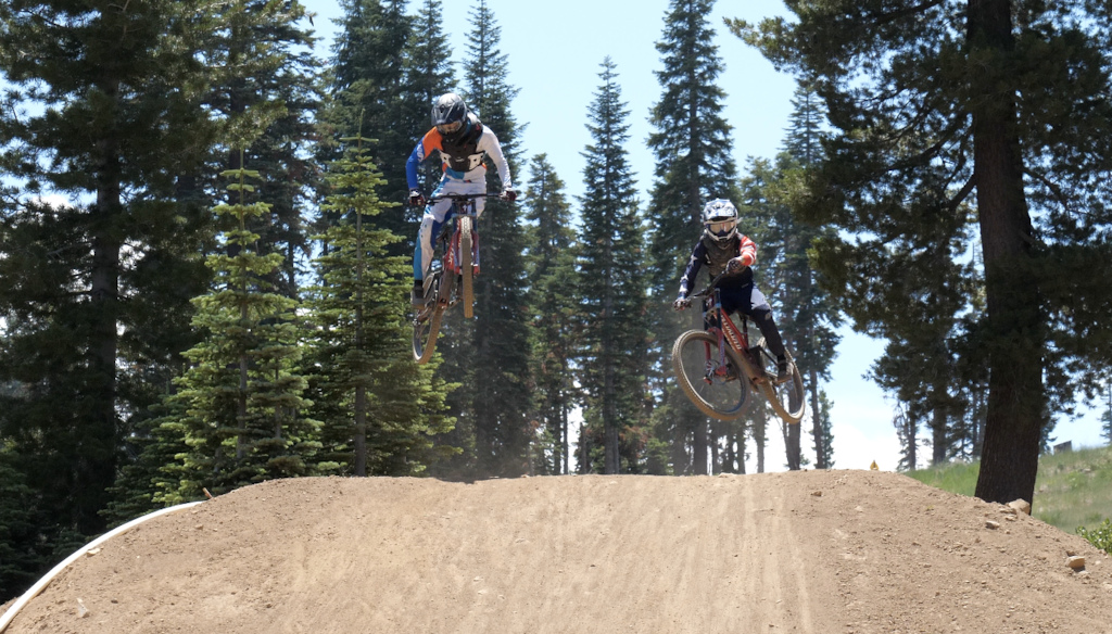 Alec boosting and Jared scrubbing a jump at the same time