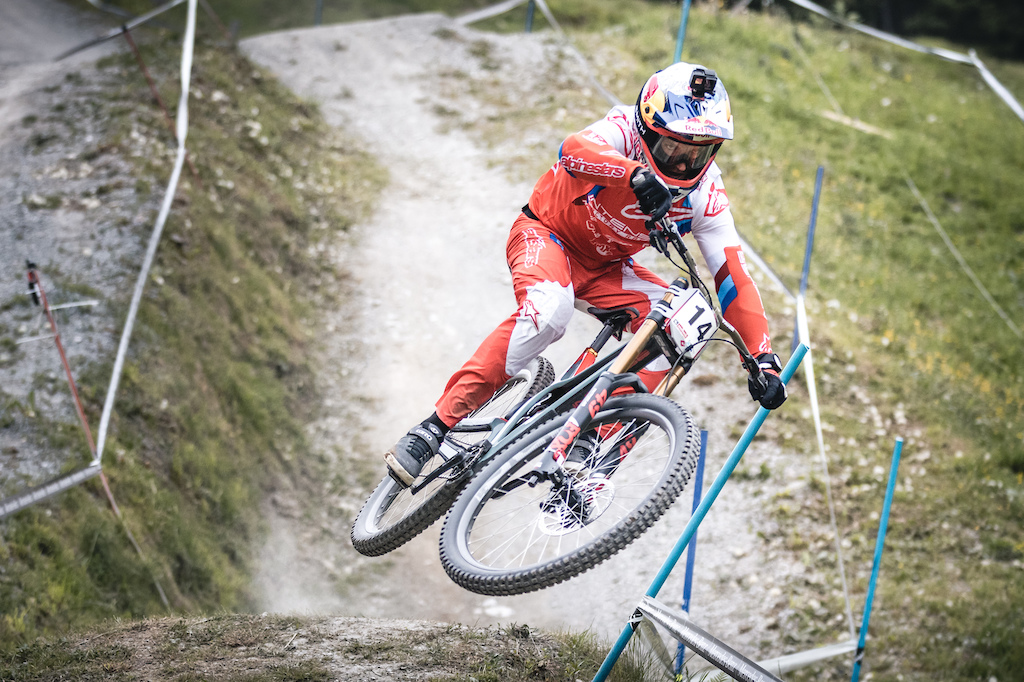 UCI MTB DHI Weltcup 2019 Qualification Aaron Gwin Moritz Ablinger
