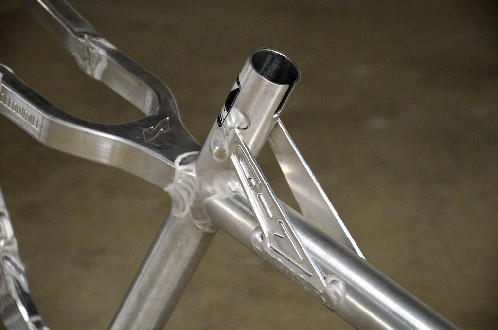 Gusset plates between the top tube and seat tube were added for strength and most importantly for the looks.