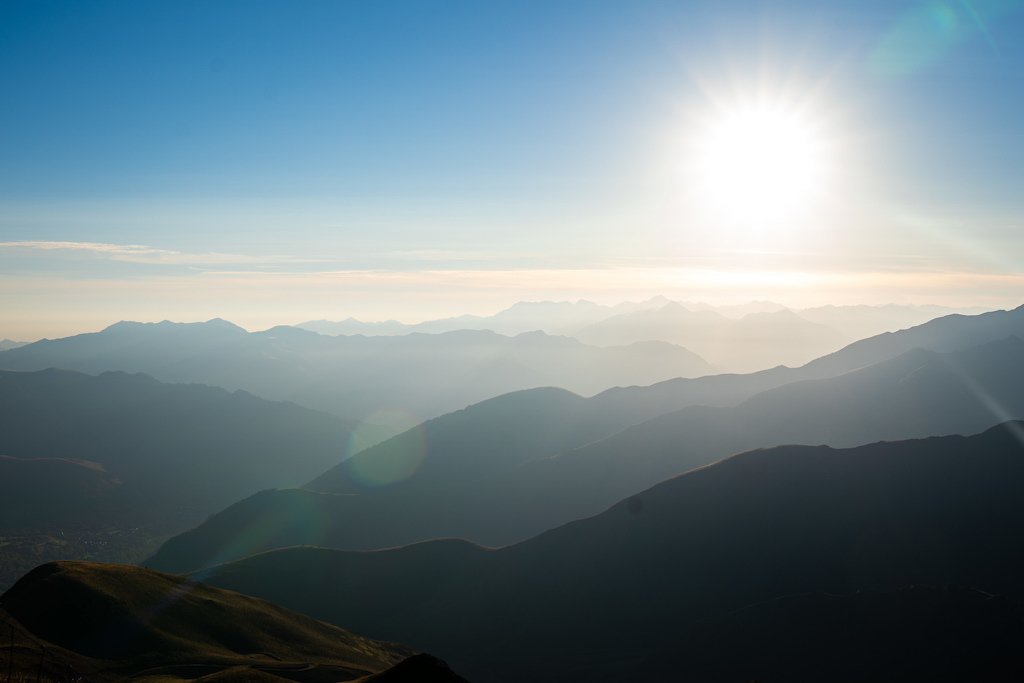 The Sun his rising in the Pyrenees