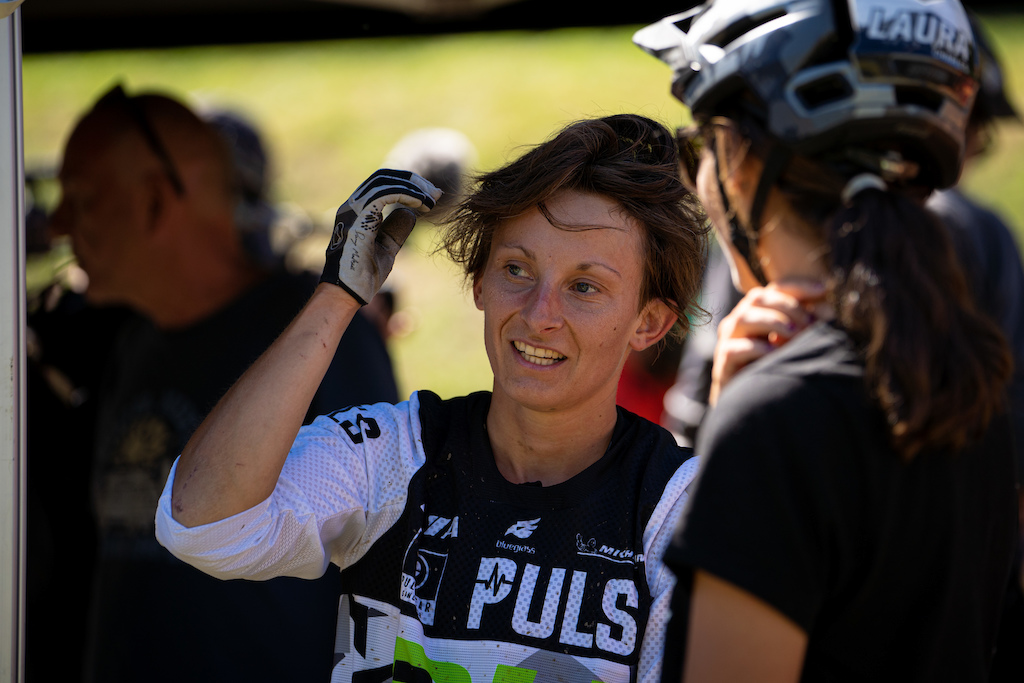 Melanie Pugin is having a great season but missed the victory for less than 4 seconds