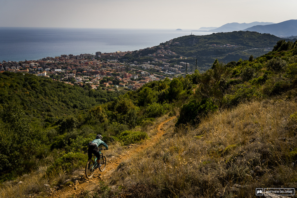 The final stage to the sea. Stage five is kind of the classic Ligurian loose rocky affair.