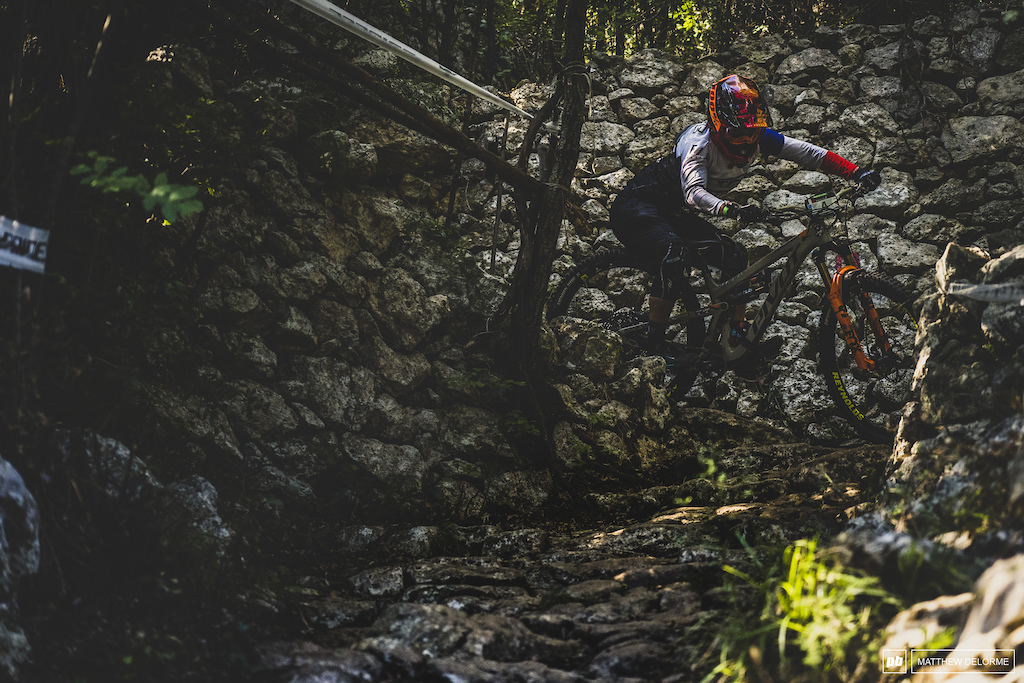 Morgane Charre takes her first EWS win here in Finale.