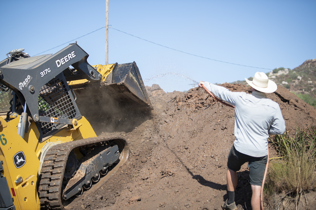 Kyle watering the Scrub Jump