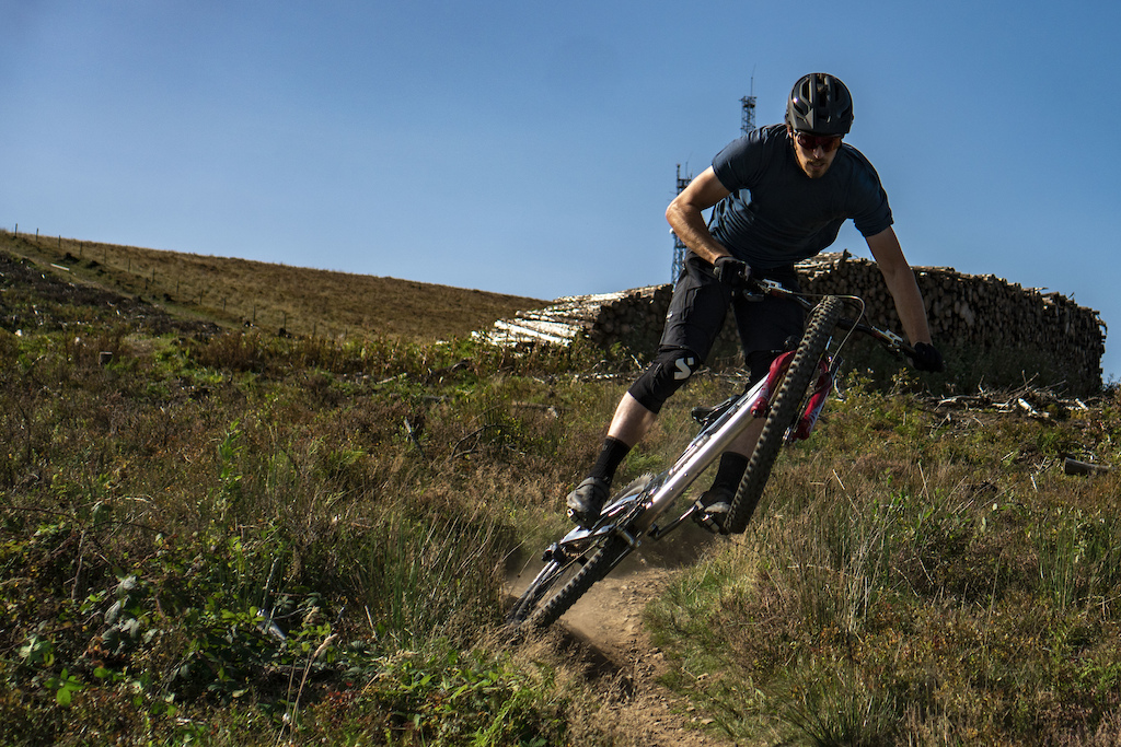 Leigh Johnson Riding the G T Trail at Afan Masts.