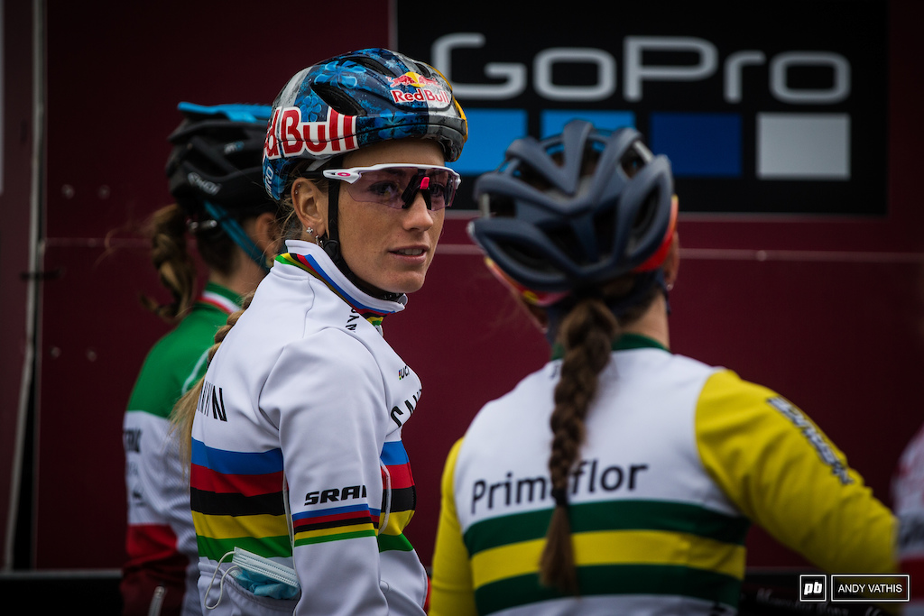 Pauline Ferrand Prevot ready to head into the second short track of the week.