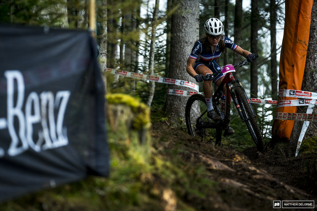 Loana Lecomte got out front on the first climb and never looked back.