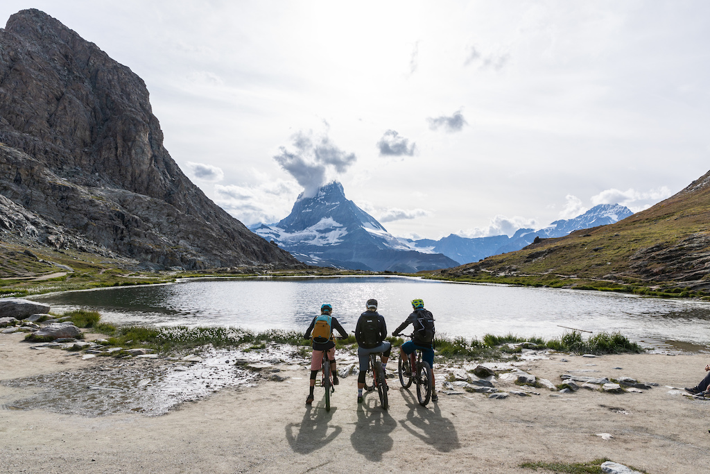 The finish of a beautiful tour through Valais to Zermatt.