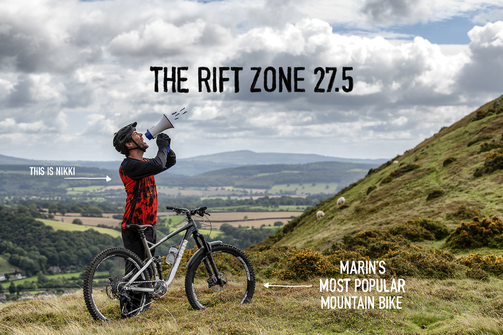 The Rift Zone 27.5 is Marin s most popular mountain bike