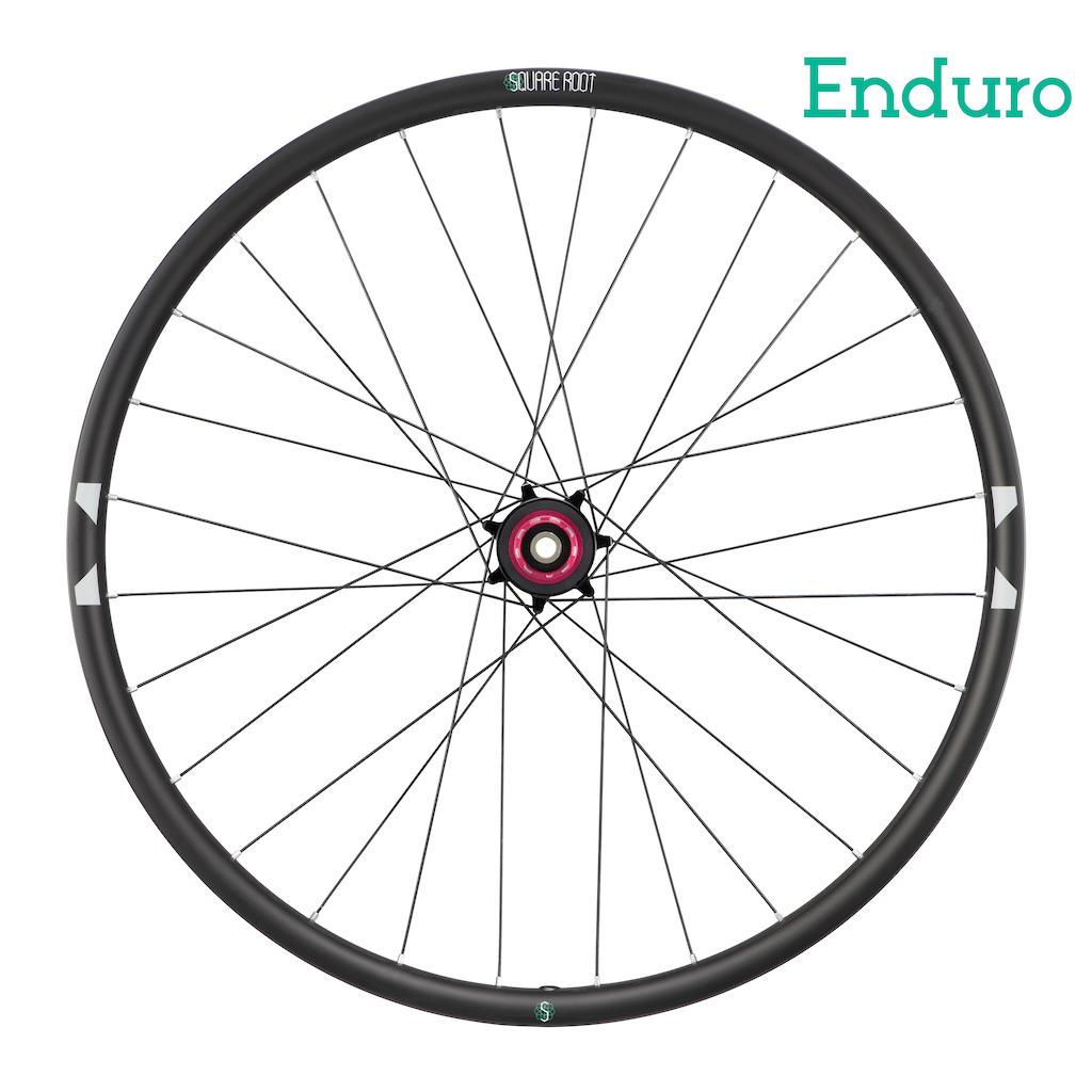 Square Root Enduro wheel (rear)