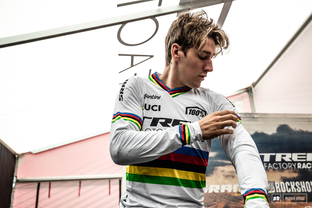 The first time the rainbow stripes were put on in between the tapes for Reece Wilson.