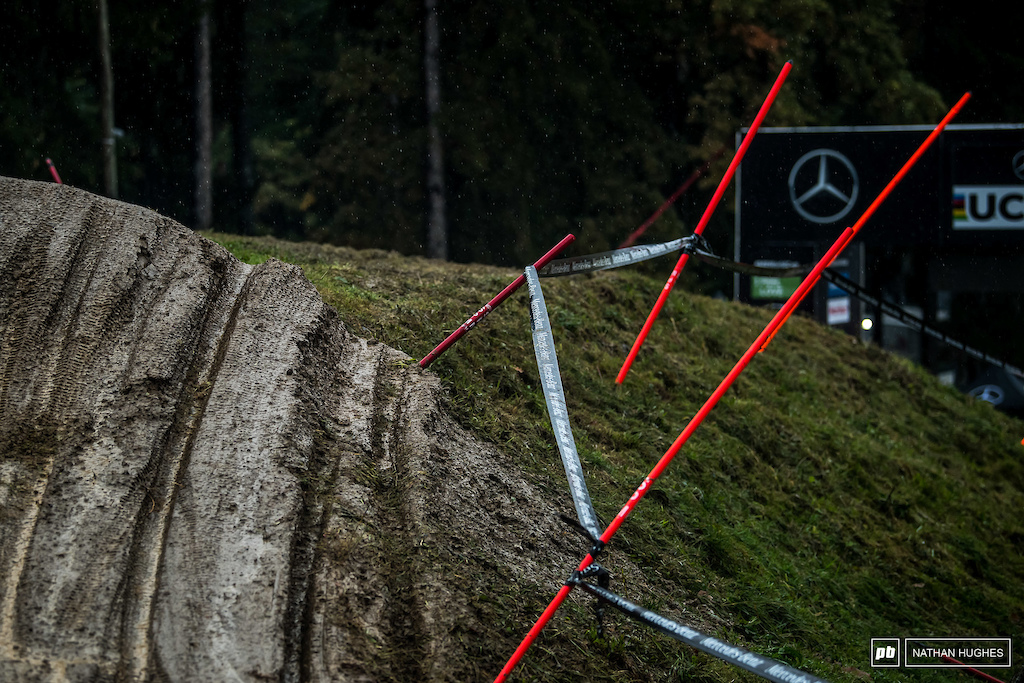 And with the autumn weather the motocross theme continues... The finish jump has seen better days.