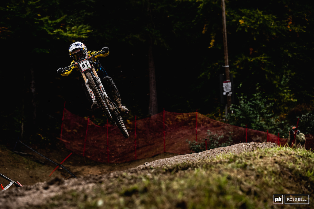 Martin Maes is back swinging off a downhill bike again and mixing it with the big dogs as you'd expect. 9th place on the day.