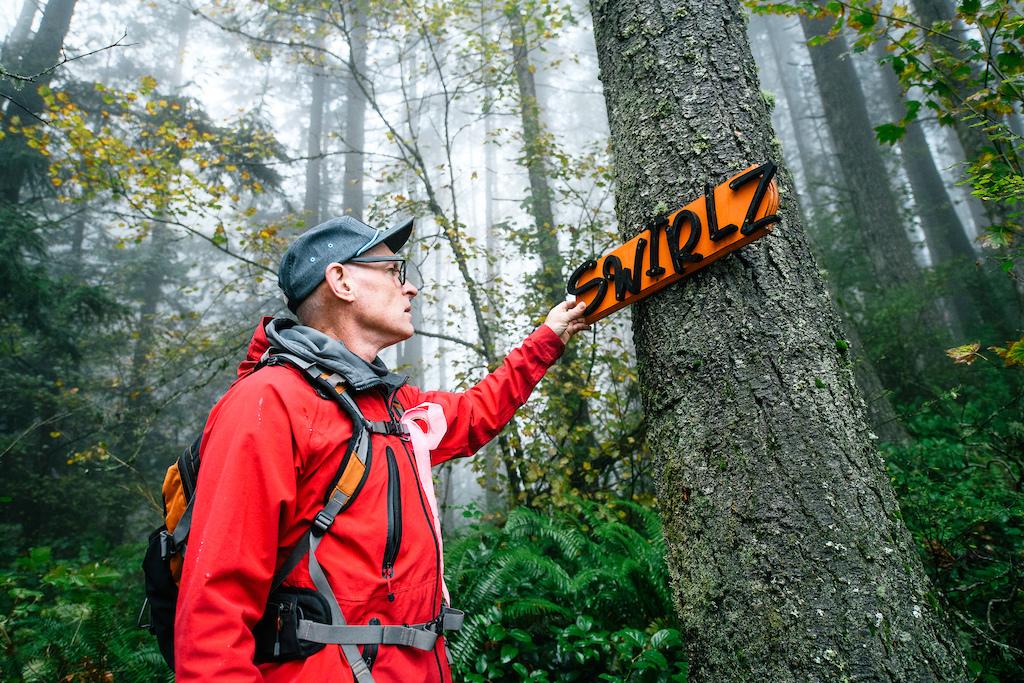 The Swirlz trail sign.