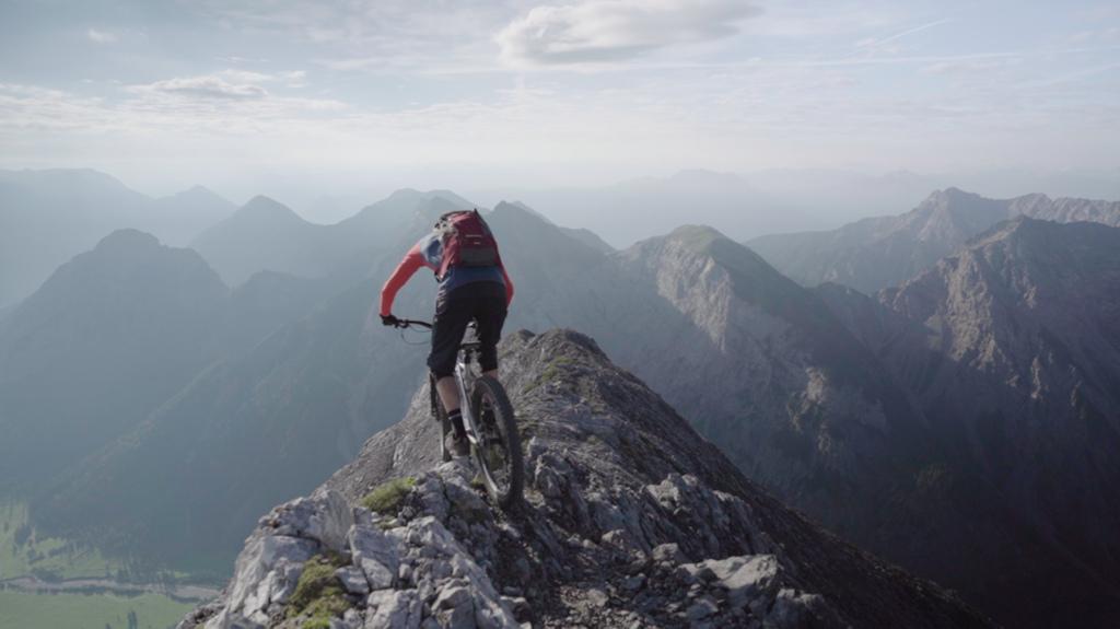 Making my way down the ridge