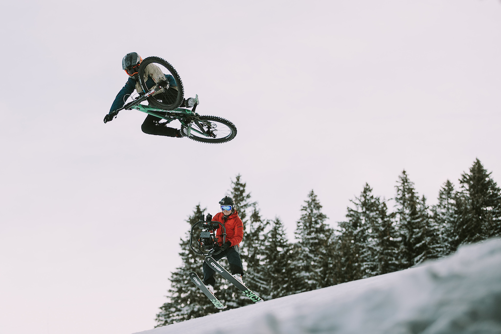 Vinny T riding the french alps like nobody else does This part will turn heads
