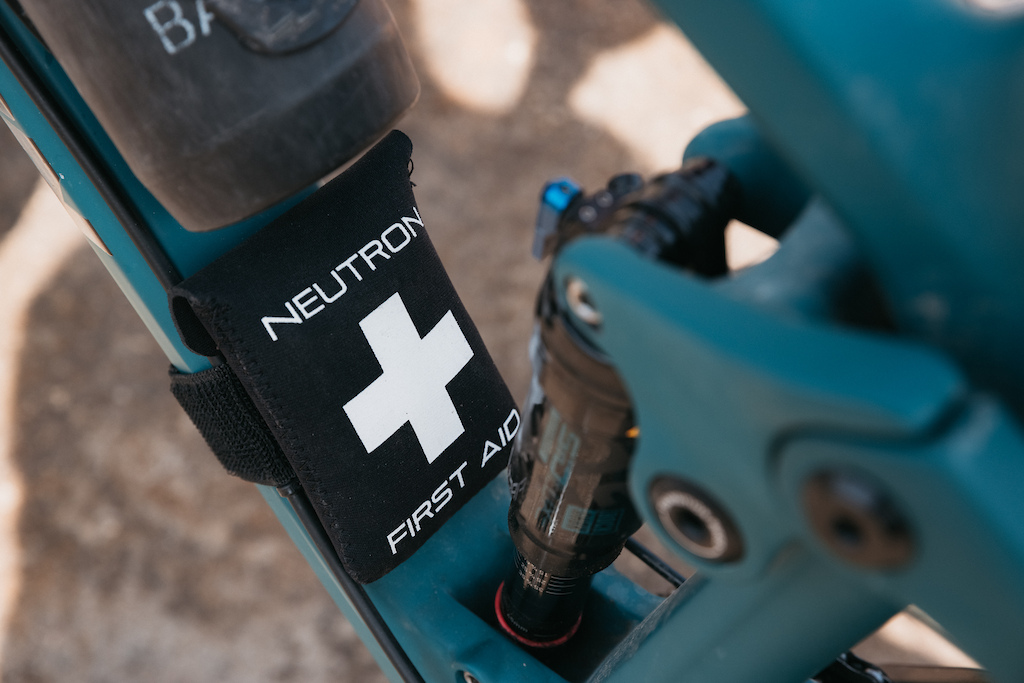 First aid kit on down tube