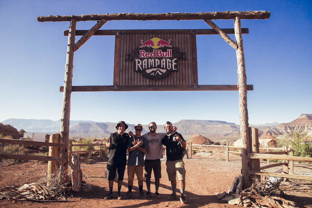 Johny and his crew at Red Bull Rampage