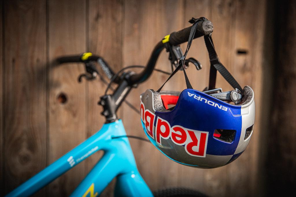 Danny MacAskill s signature Helmet from Endura with Red Bull branding