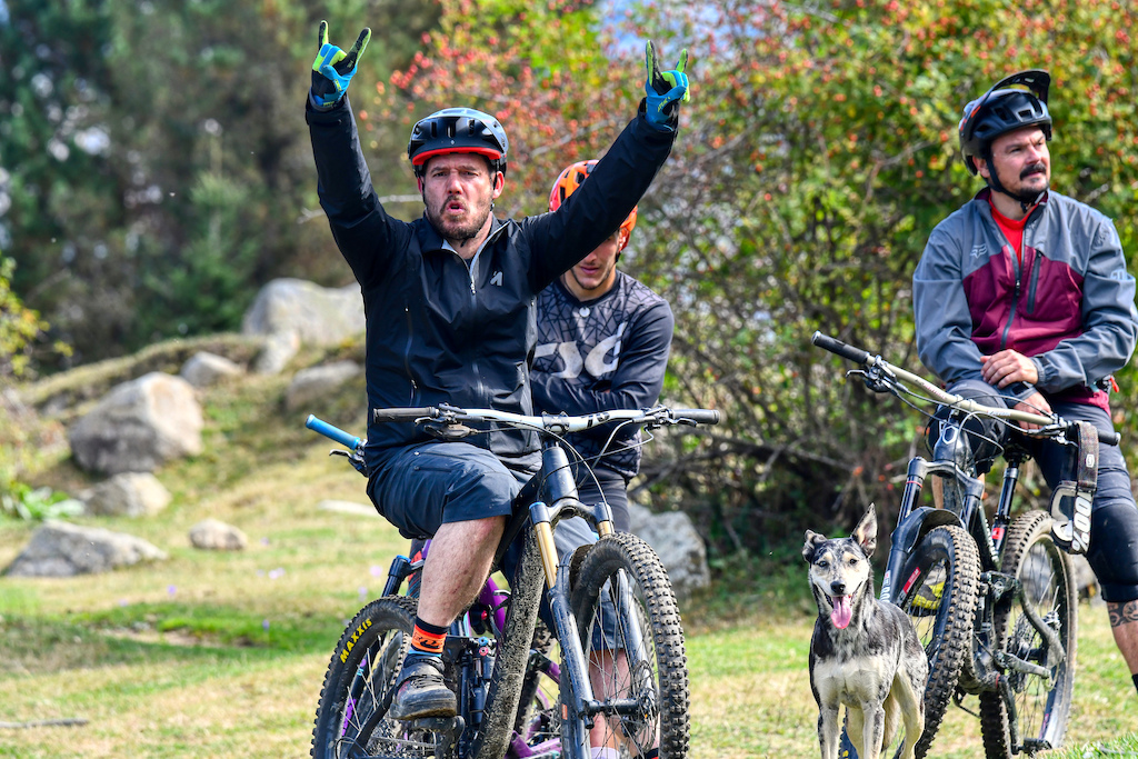 David one of the main faces behind Aran BikeParks trail builder driver guide everything in one