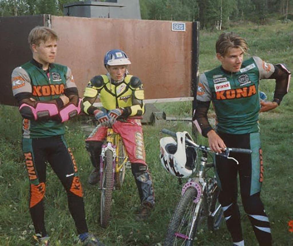 Veli-Matti Niemi, Roi Paananen and Antti-Pekka Laiho. Rovaniemi, Finland 1994 Photo: Kalevi Mikkonen