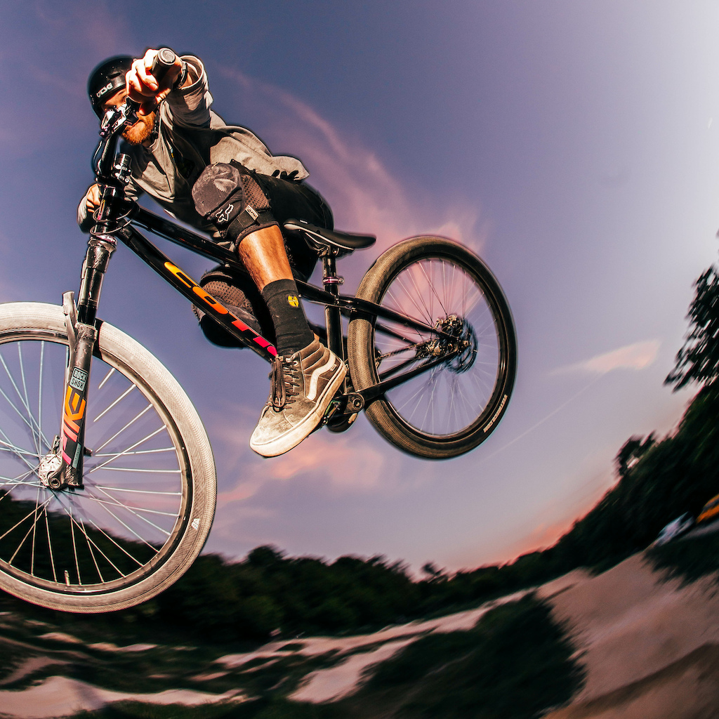 Cotic Dirt Jump Prototype Built by 18 Bikes Painted by Five Land Bikes Graphics by HKT Products