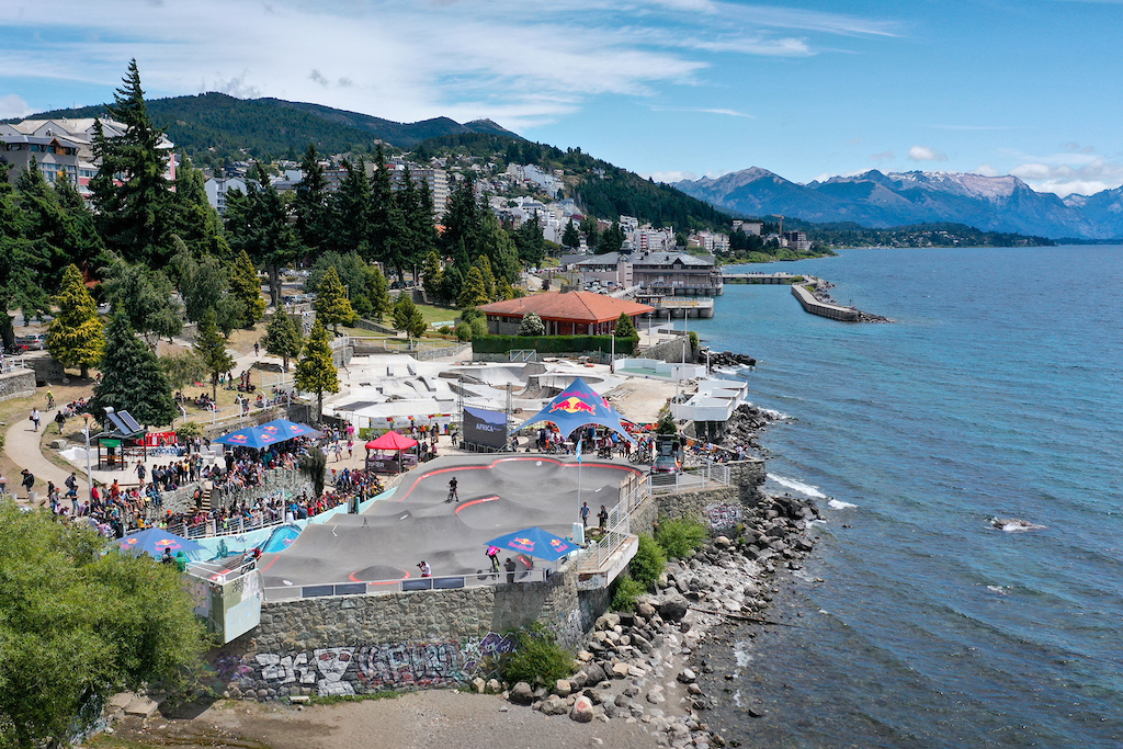 Venue of the Red Bull UCI Pump Track World Championship in Bariloche Argentina on January 25 2020 Marko Magister Red Bull Content Pool SI202002120120 Usage for editorial use only