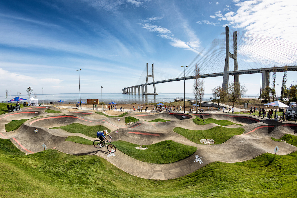 Venue of Red Bull UCI Pump Track in Lisbon Portugal on October 18 2020 Hugo Silva Red Bull Content Pool SI202010200433 Usage for editorial use only