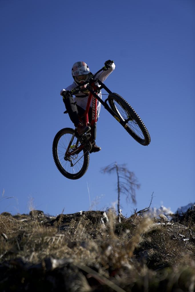 Gabriel shredding his local trail with style Stephan Wibmer