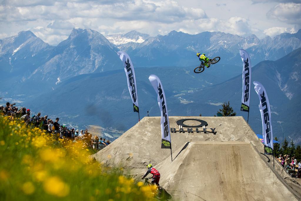 during the Innsbruck Crankworx World Tour