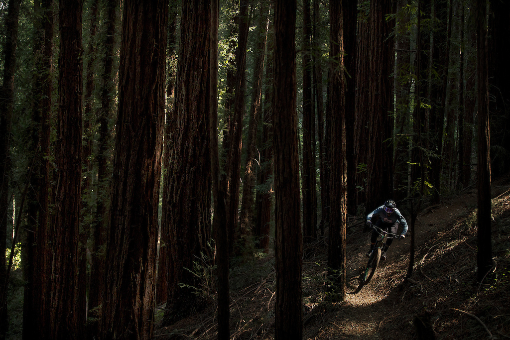 Alain Lanusse riding the steeps and the deeps of Santa Cruz in the new Kali Cascade gloves.