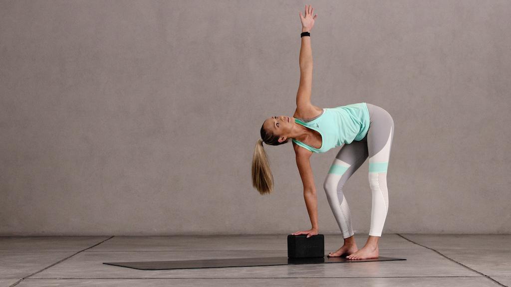 Yoga 15 Revolved Standing Forward Bend