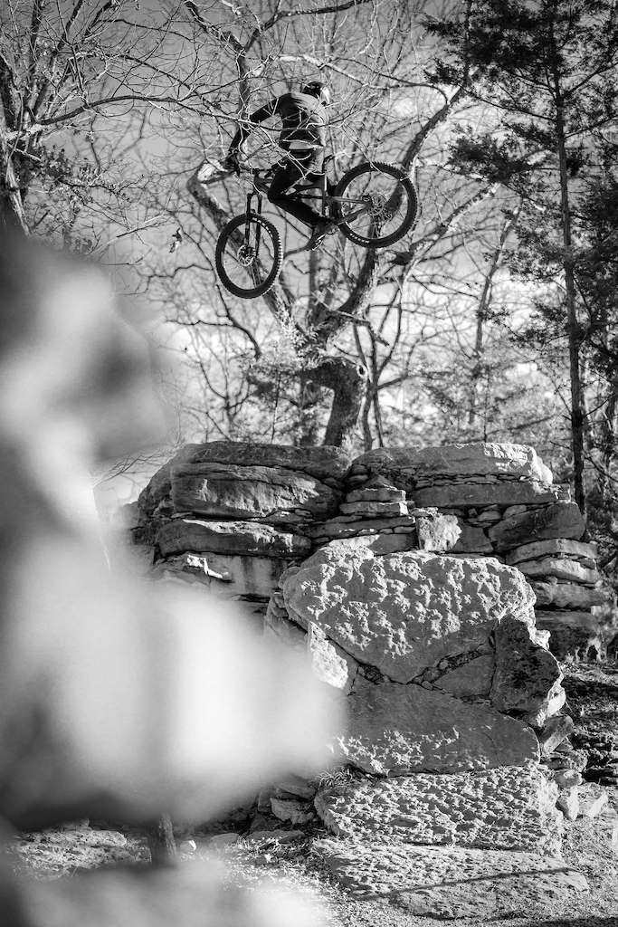 Big stacked rock step up - self shot