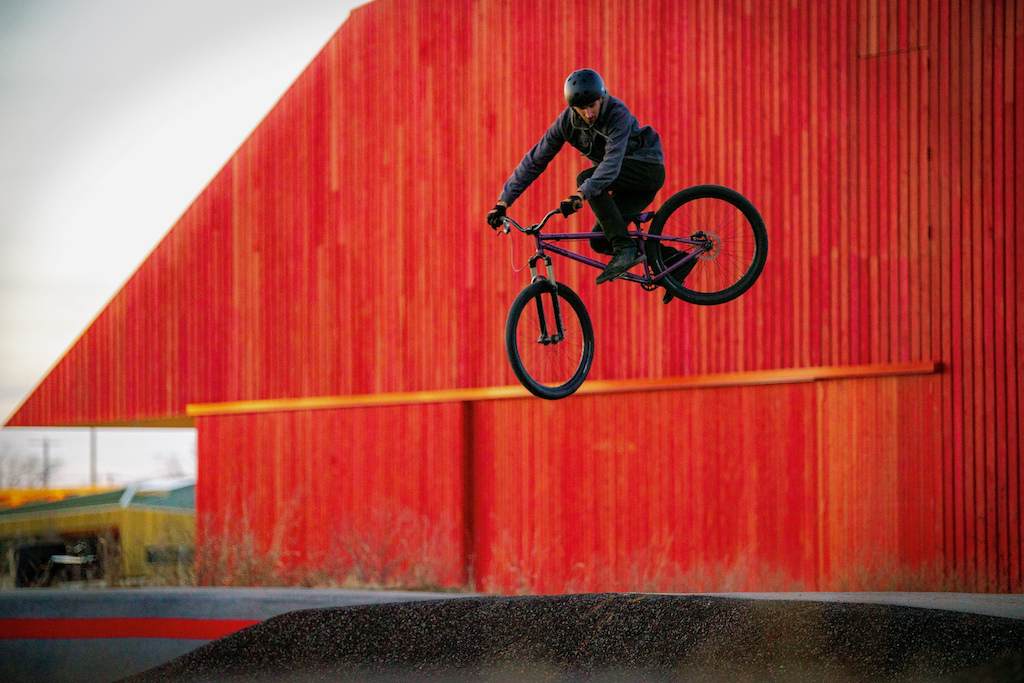 Thaden school bike barn pump track transfer -self shot