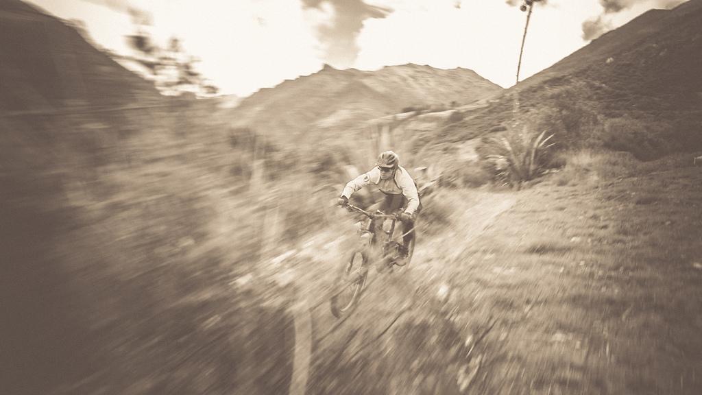 Speed in sephia.