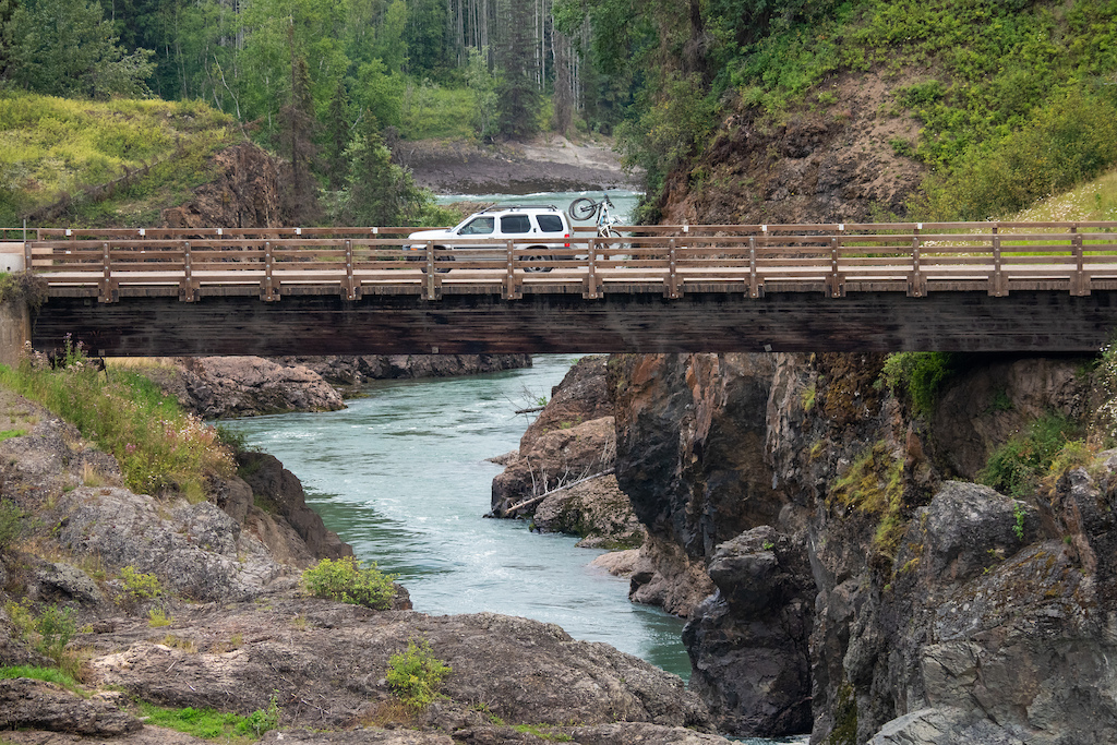 Crossing the Babine River enroute from Terrace to Smithers
