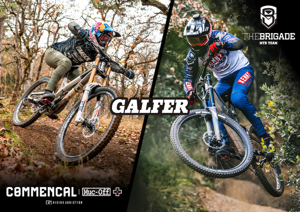 Commen al Muc-Off Team with Galfer Brakes The Brigade Team with Galfer Brakes