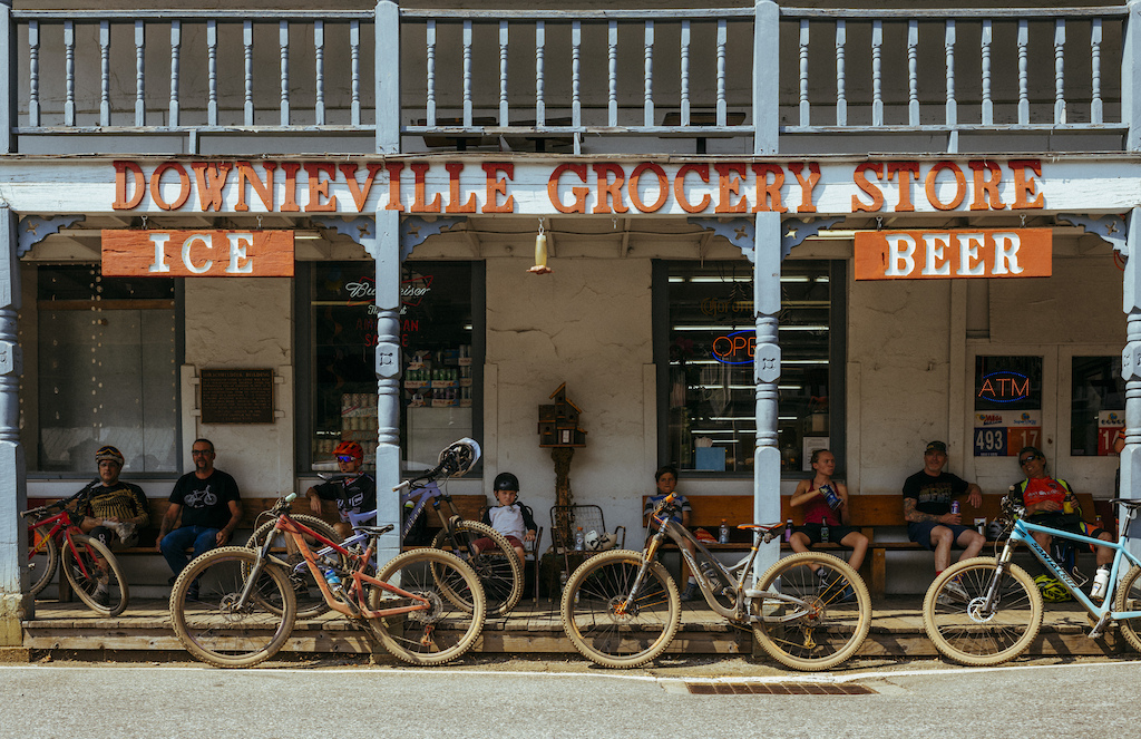 The Downieville Grocery Store is the main stop for beer and provisions when you get back from a ride.