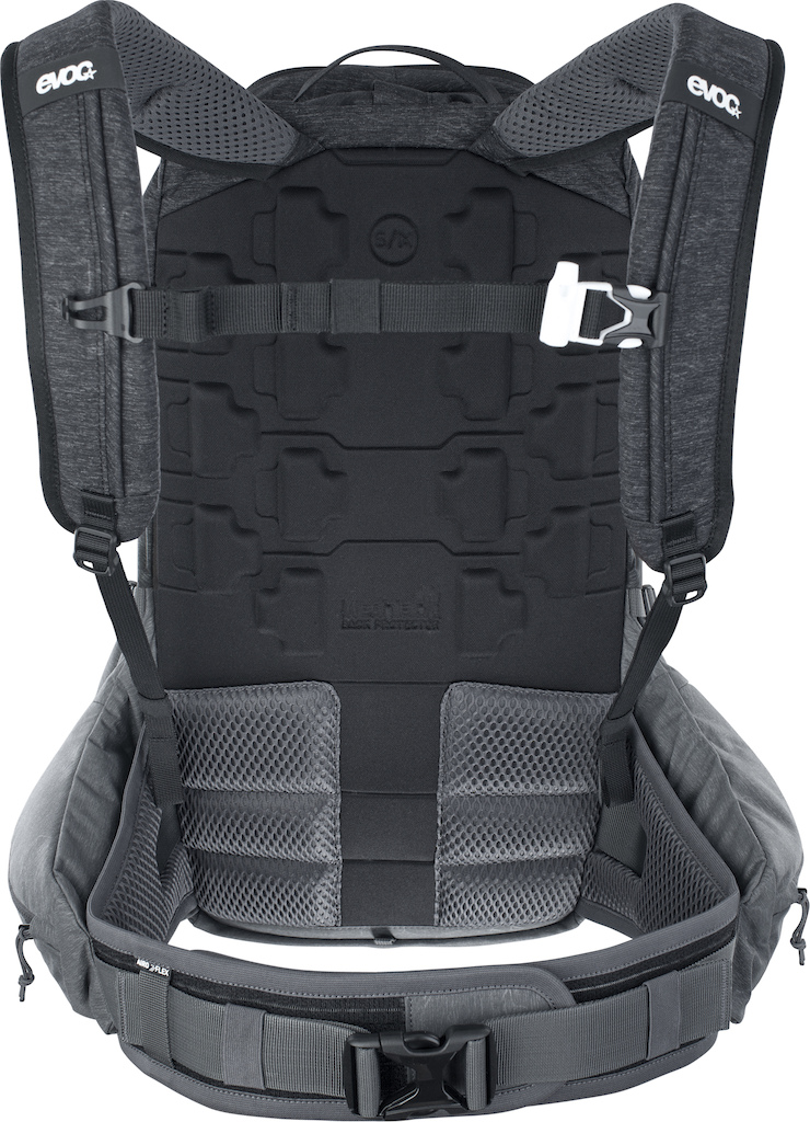 Evoc Trail Pro 16l protective backpack Carbon Grey