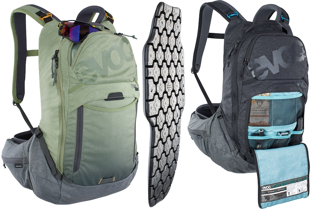 Evoc Trail Pro 16l Lightshield Plus back protector