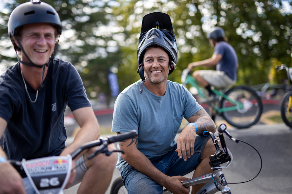 Riders at the Red Bull UCI Pump Track World Championships Qualifier in Cambridge New Zealand on March 20 2021