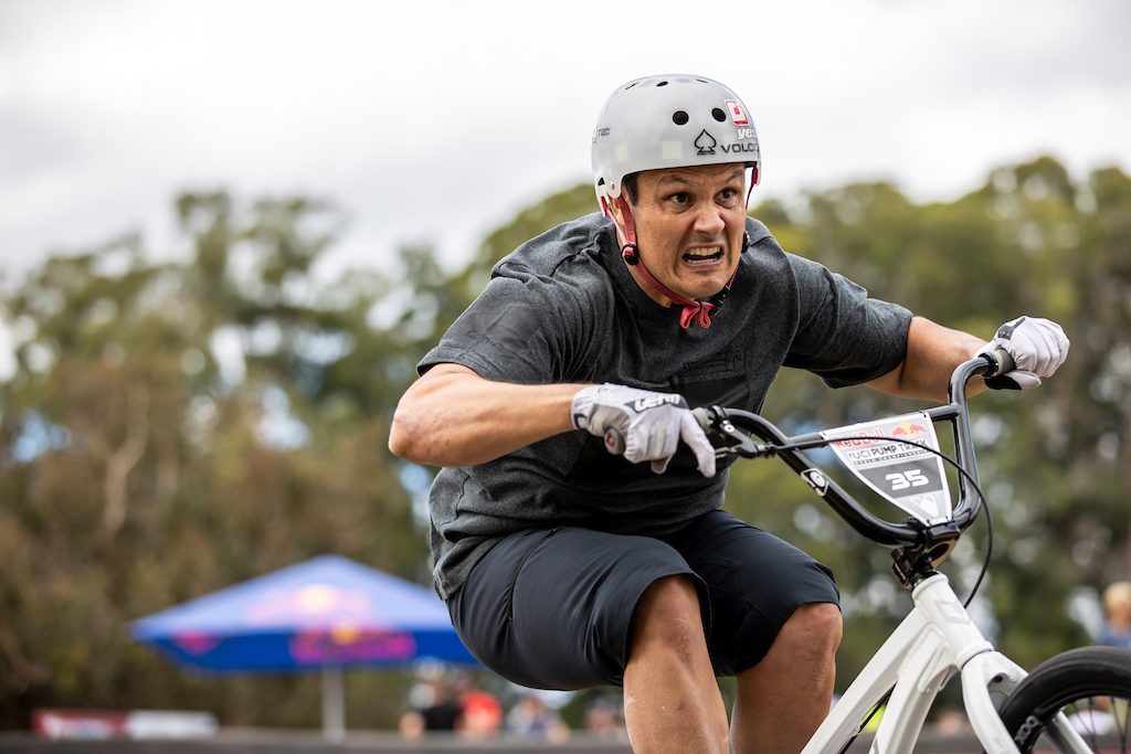 All that determination at the Red Bull UCI Pump Track World Championships Qualifier in Cambridge New Zealand on March 20 2021