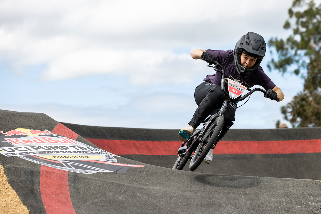 Rebecca Petch takes 2nd place at the Red Bull UCI Pump Track World Championships Qualifier in Cambridge New Zealand on March 20 2021